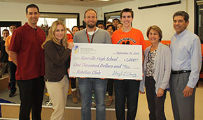 RSC Engineering Donated $1000 to Roseville High School