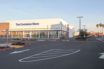 The Container Store and signalized entrance at Arden Way