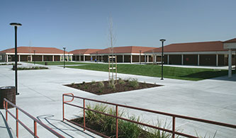 Courtyard with ADA Ramp at Kimball High School, Tracy