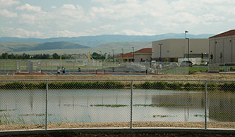 Irrigation Pond at Kimball High School, Tracy