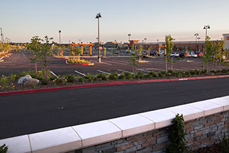 Rocklin Commons Parking Lot and Shops